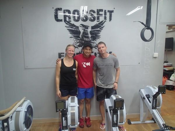Efter træning i Fire City Singapore