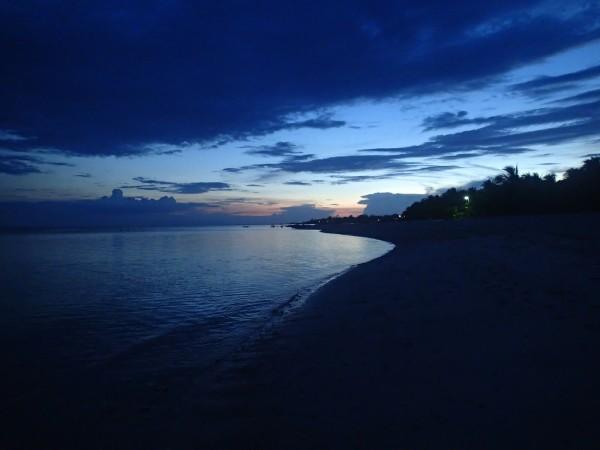 Solnedgang over stranden ved Bantayan Island