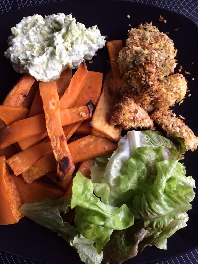 Kyllinge nuggets og fritter
